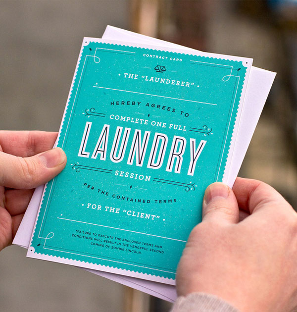 55 Hi's Contract Card : Laundry Load