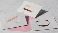 Marble & Foil Stamped Monogram Cards by Studio Sarah