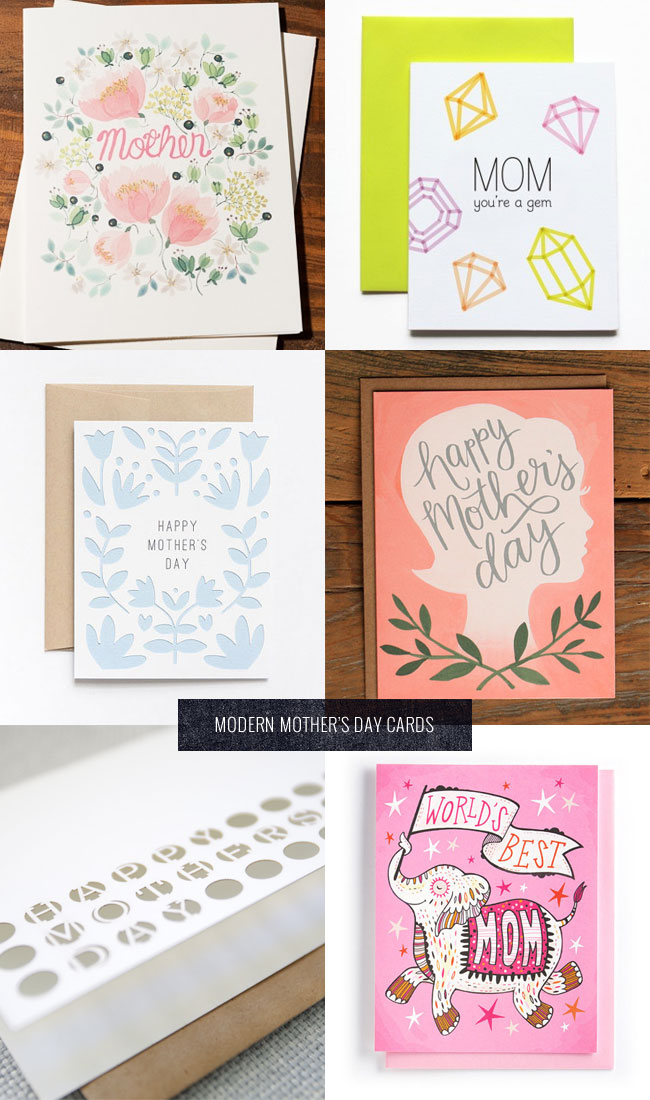 Modern Mother's Day Cards