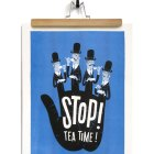 Esther Aarts Illustrated Stop! Tea Time! Art Print