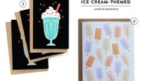 Ice Cream-Themed Stationery & Cards
