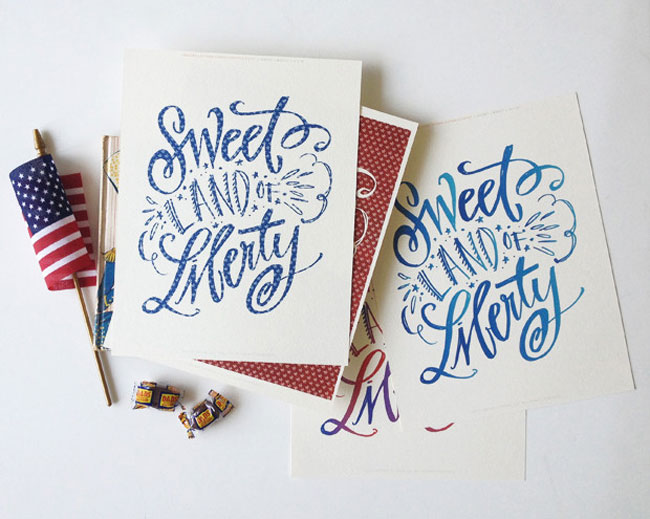 Downloadable Sweet Liberty Print by Lindsay Letters