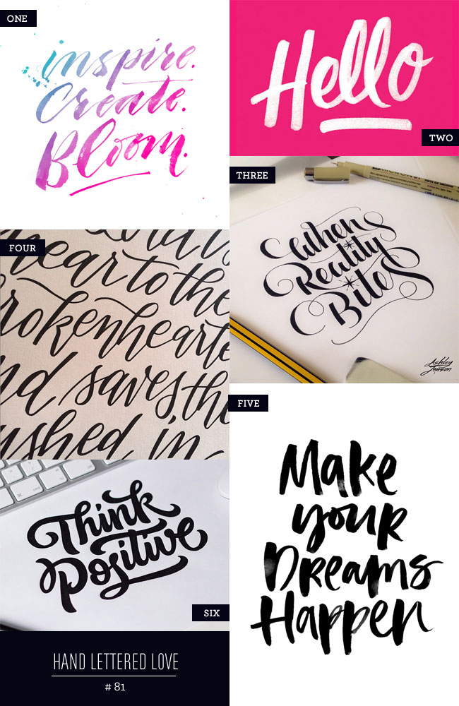 Hand Lettered Love #81