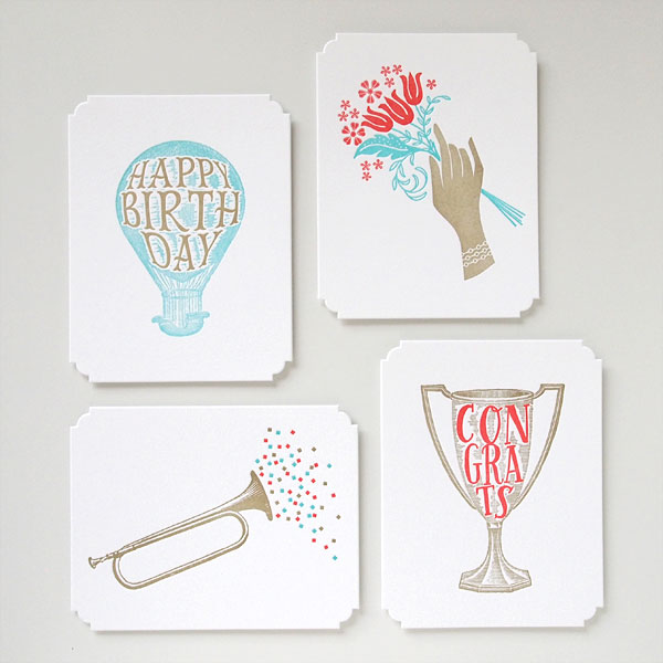 Deluxe Greetings Letterpress Cards by Missive