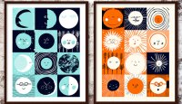 12 Moons & 12 Suns Screenprints by Rob Hodgson (Screenprinting by Yet)