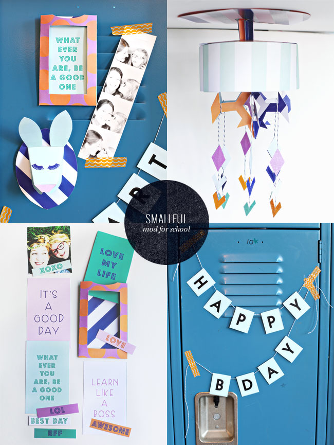 Mod for School Printable Locker Decorations by Smallful