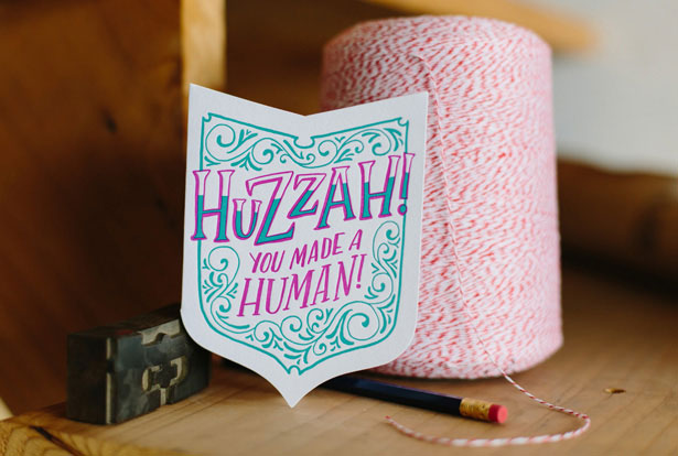 Frog & Toad Press Huzzah Letterpress Card
