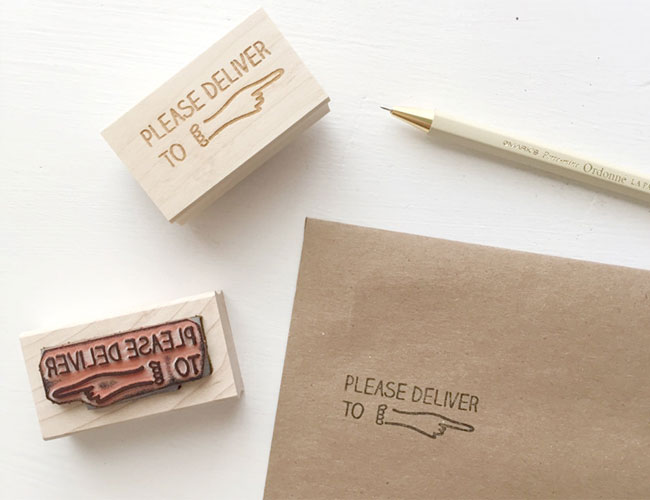 Please Deliver To Rubber Stamp by Ms. Matilda