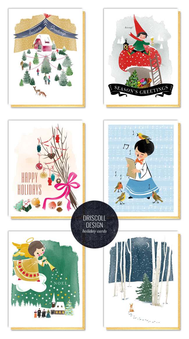 Illustrated Holiday Cards by Driscoll Design