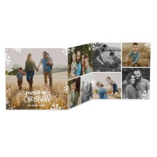 Snowflakes Tri-Fold Holiday Photo Cards by Jill Smith