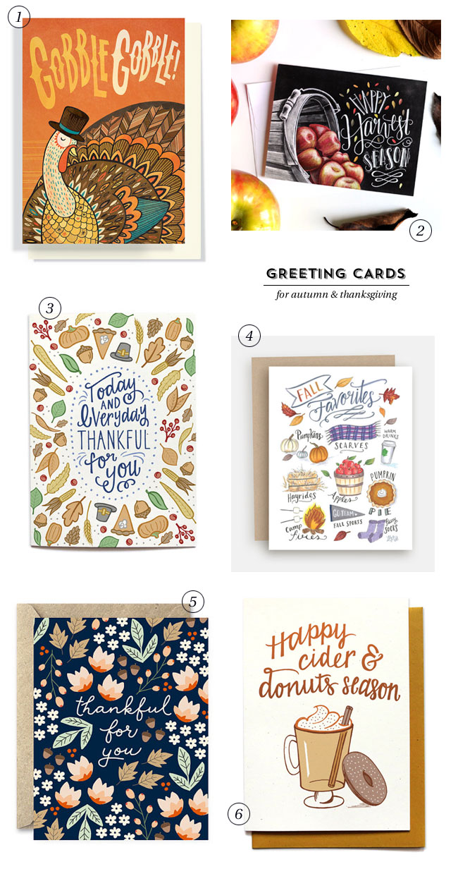Greeting Cards for Autumn & Thanksgiving