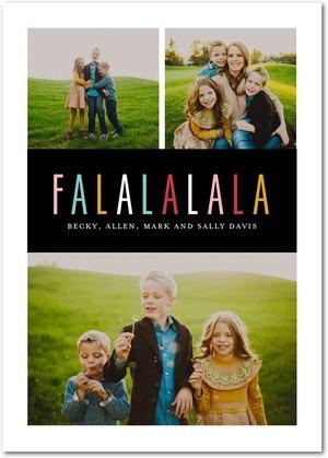 Modern Fa La La Holiday Photo Cards by Tallu-lah