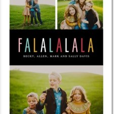 Modern Fa La La Holiday Photo Cards by Tallu-lah