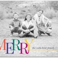 Non-Traditional Colors Holiday Photo Cards by East Six