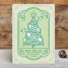 Holiday Tree Business Holiday Cards by Jessica Ogden