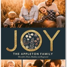 Golden Joy Holiday Photo Cards by Hello Little One