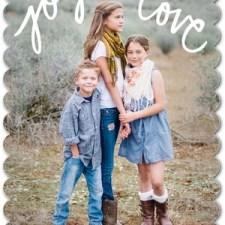 Love Joy Holiday Photo Cards by Jill Smith