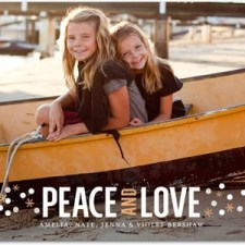 Peace & Love Dots Holiday Photo Cards by Baby2Baby