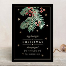 Modern Branch Business Holiday Cards by Chris Griffith