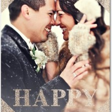 Happy Glitter Holiday Photo Cards by Magnolia Press
