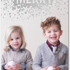Merry Sparkle Glitter Holiday Photo Cards by Sarah Hawkins Designs