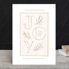 Elegant Joy Business Holiday Cards by Lori Wemple