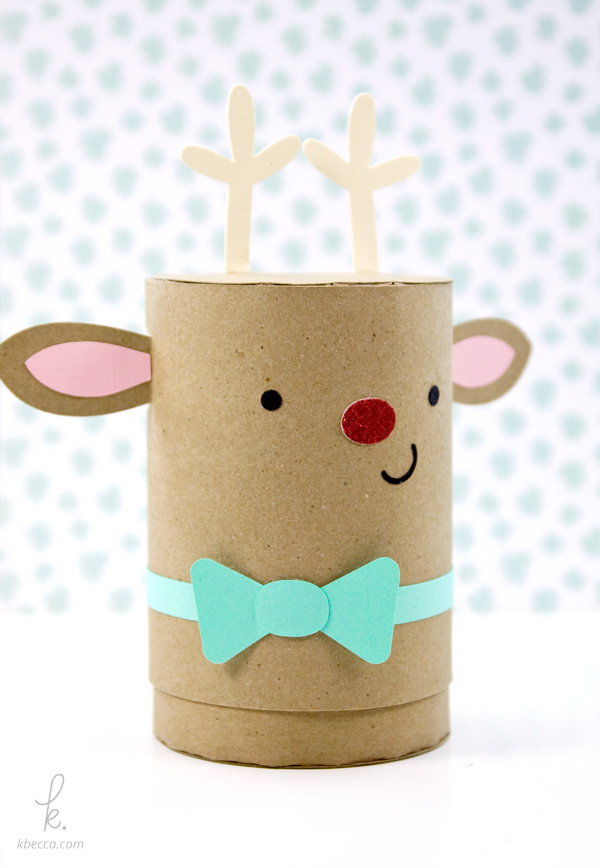 DIY Die Cut Sparkle the Reindeer Holiday Gift Box Paper Craft