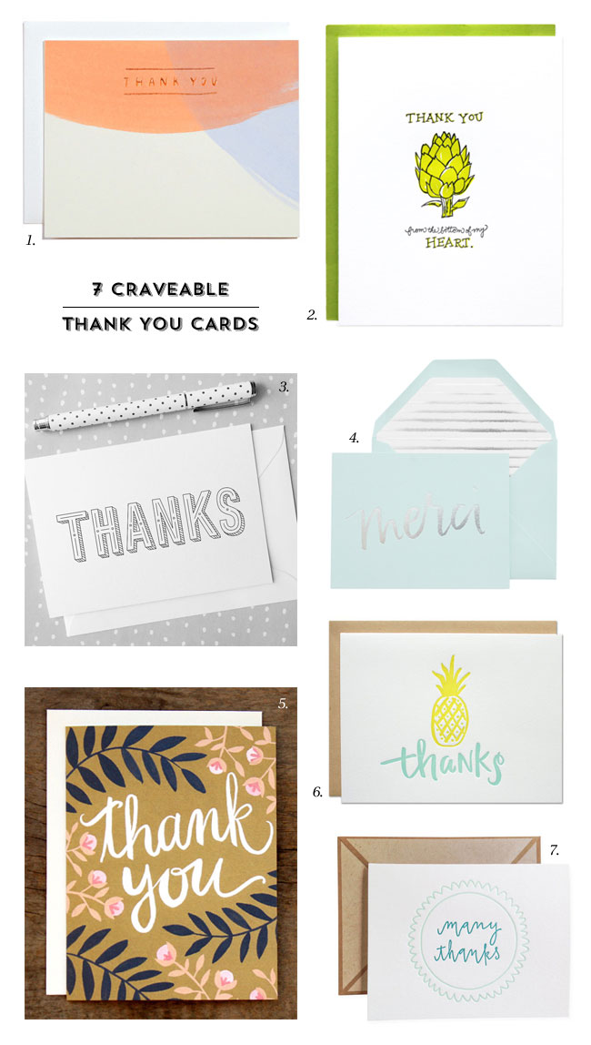 7 Craveable Thank You Cards