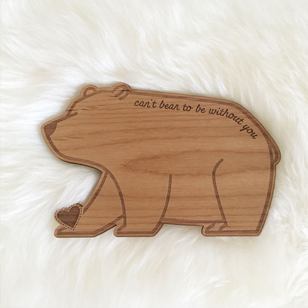 Can't Bear to Be Without You Real Wood Card by Cardtorial