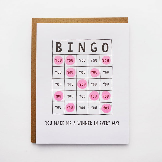Bingo Card by Lucky Horse Press