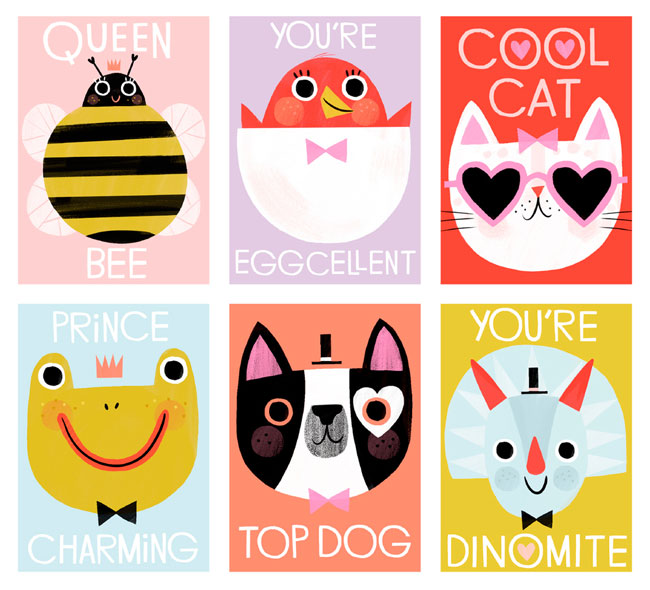 Digital Printable Valentine's Day Mini Cards by Hip-Hip
