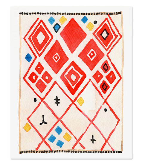 Kilim Rug 6 Art Print by Golden Fox Goods