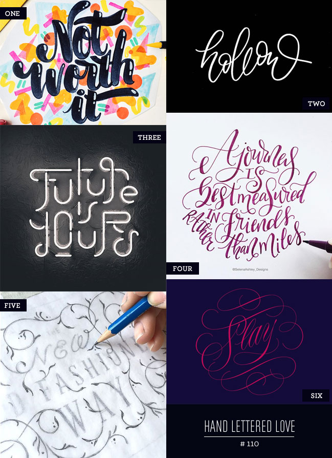 Hand Lettered Love #110