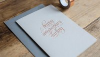 Copper Foil Anniversary Card by Nothing But Lovely