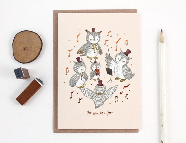 Whimsy Whimsical Hoo Card
