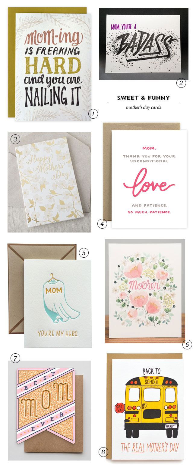 Sweet & Funny Mother's Day Cards