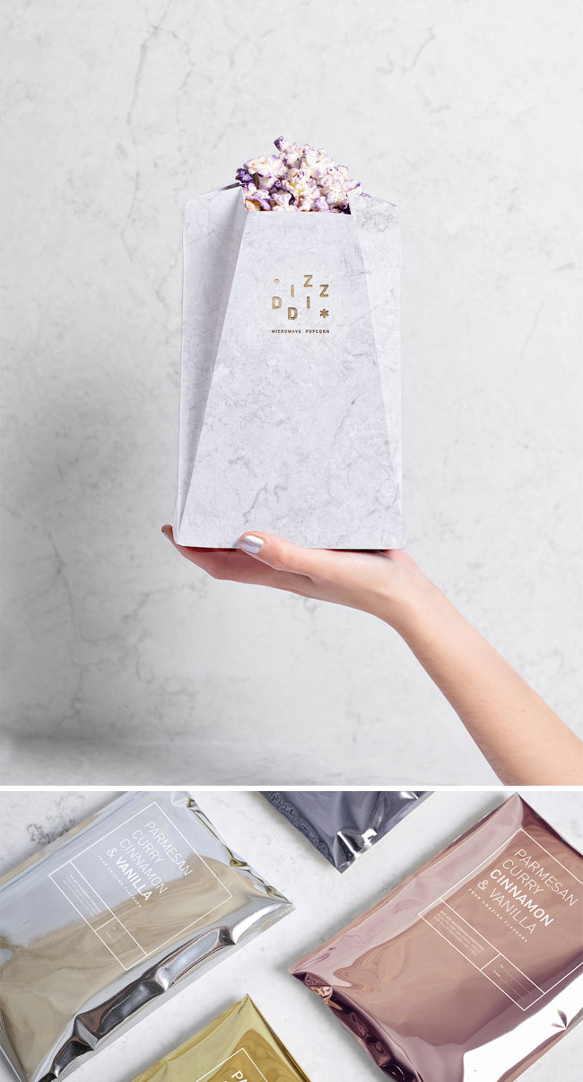 Diz-Diz Popcorn Packaging by TATABI Studio