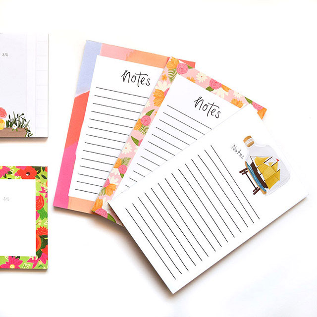 Modern, Illustrated Notepads by Bloomwolf Studio