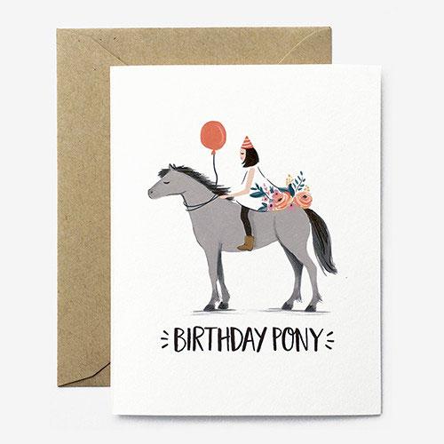 Birthday Pony Card from Paper Pony Co.