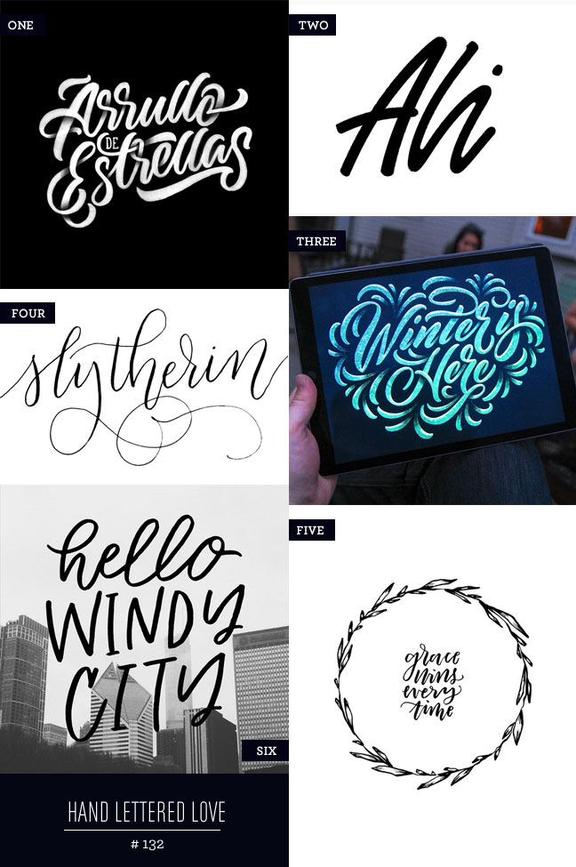 Hand Lettered Love #132
