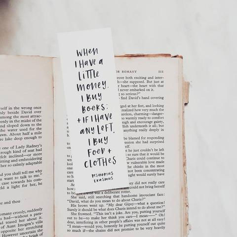 Hand Lettered Quote Bookmark from In the Daylight