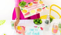 Printable Summertime Acrylic Tray Illustrations from Damask Love