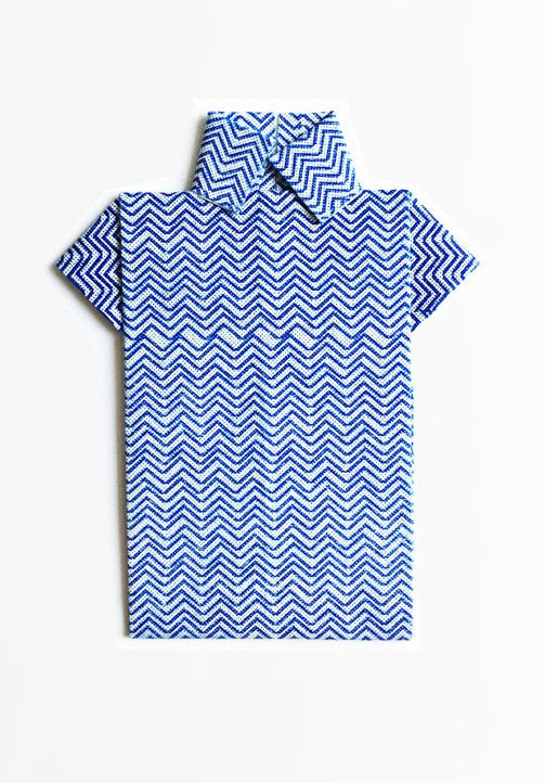 Denim Patterned Origami Shirt Cards from Scout Editions