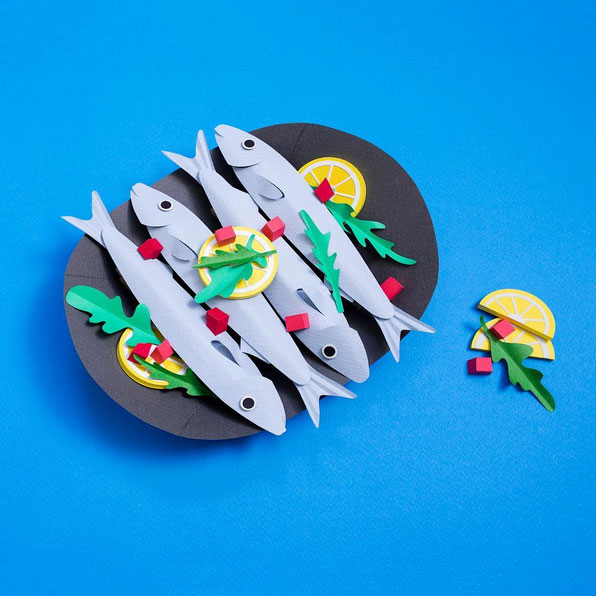 3D Paper Illustrations by Cheryl Teo