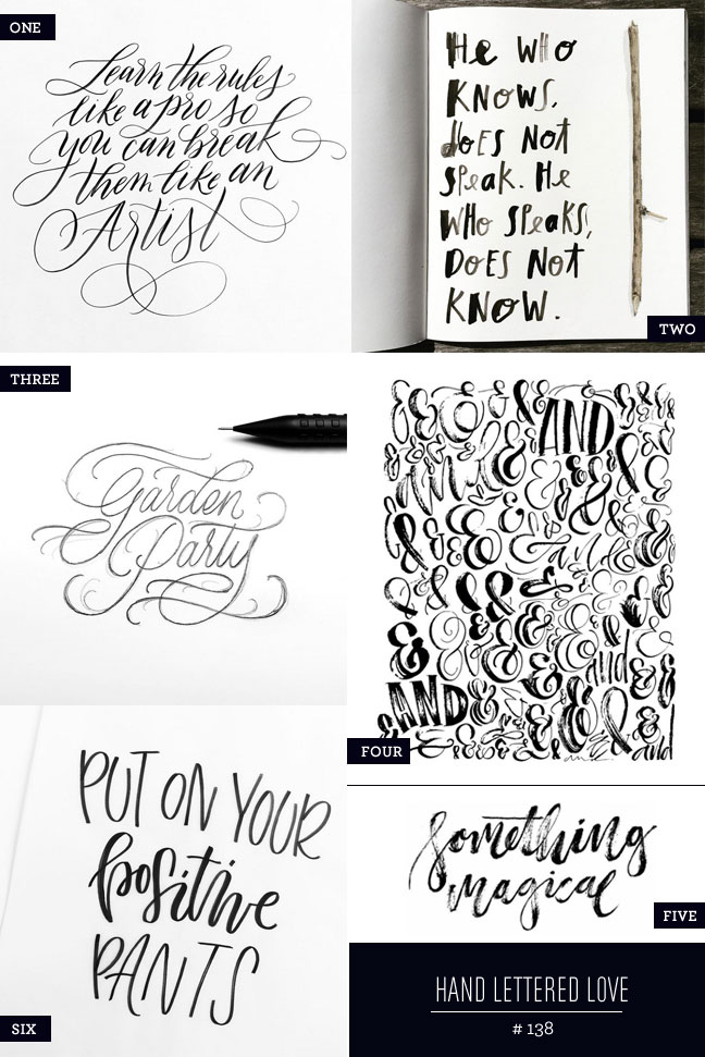 Hand Lettered Love #138