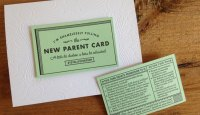 Igloo Letterpress New Parent Card
