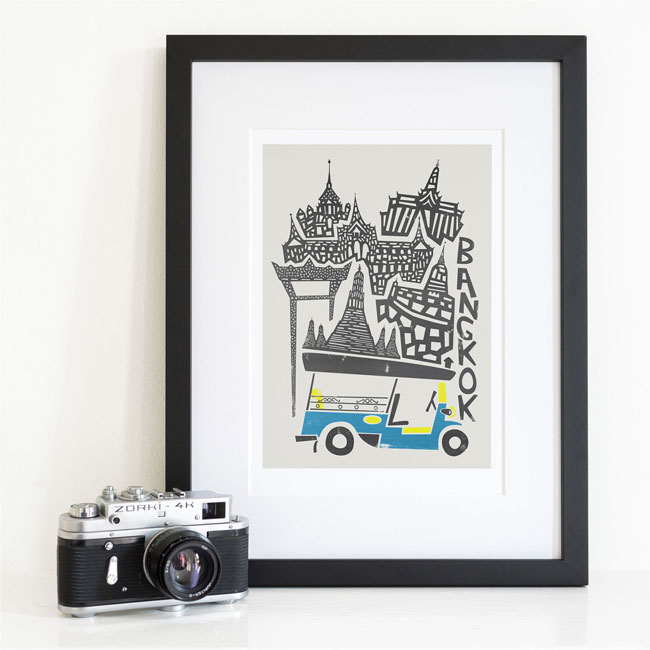 Fox & Velvet Illustrated Bangkok Art Print