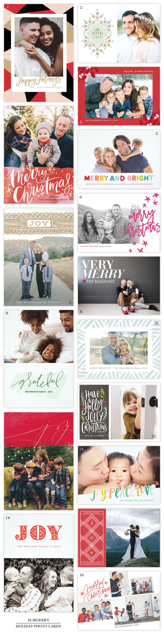 16 Totally Craveable, Modern Holiday Photo Card Designs