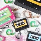DIY Cassette Tape Gift Wrap from Handmade Charlotte