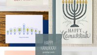 Happy Hanukkah Menorah Cards